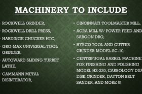 MACHINERY TO INCLUDE