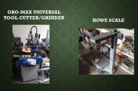 GRO-MAX UNIVERSAL TOOL CUTTER/GRINDER/HOWE SCALE
