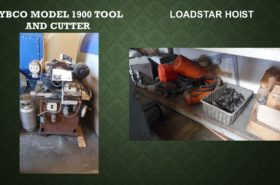HYBCO MODEL 1900 TOOL  AND CUTTER  /LOADSTAR HOIST